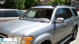 2004 Toyota Sequoia windshield replacement in Rocklin, CA