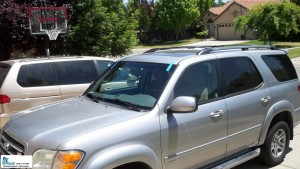 2004 Toyota Sequoia with a new windshield installed